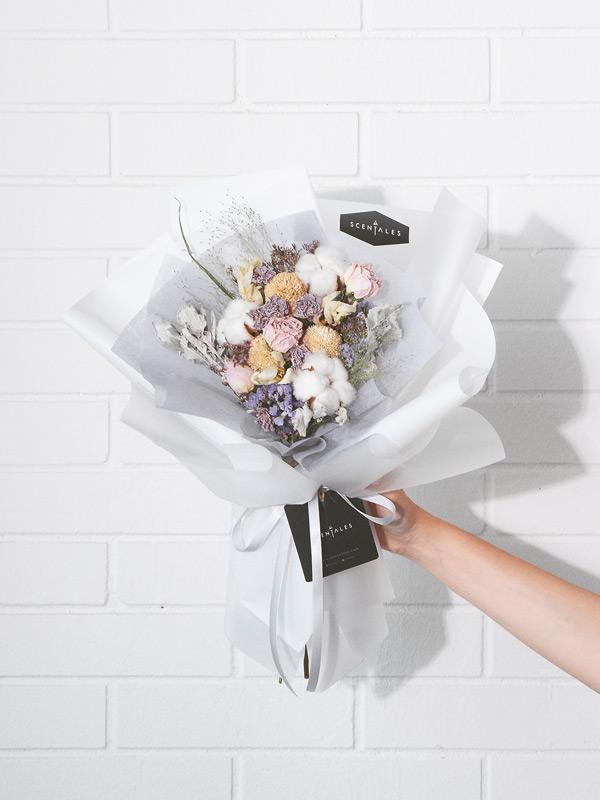 Noelle Dried Flower Bouquet   Scentales Florist