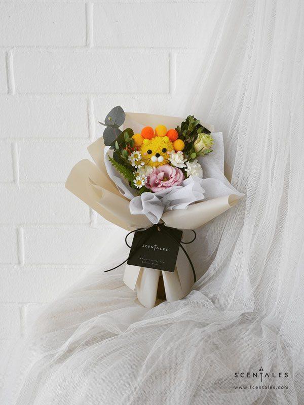 lion king petite flower bouquet